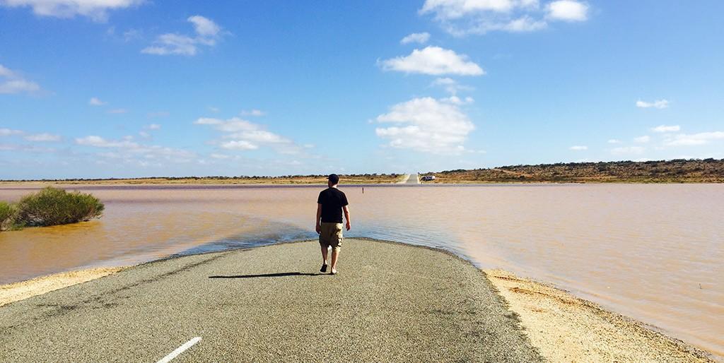 Floodway - überflutete Straße