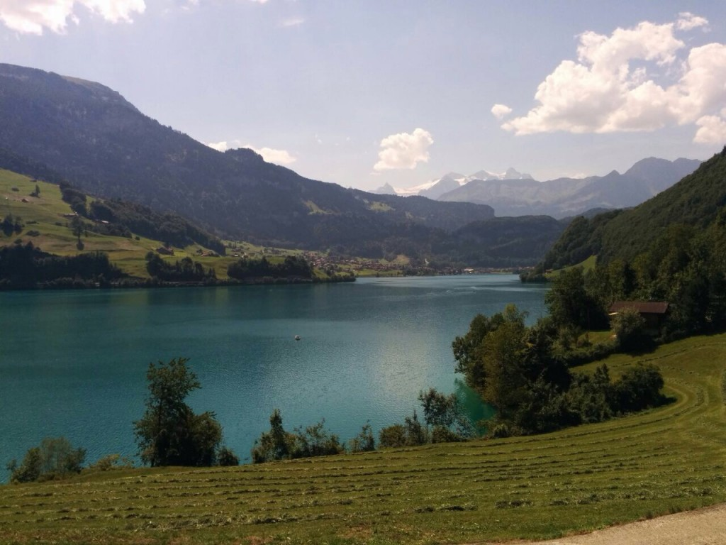 Der Lungernersee in Obwalden, Schweiz